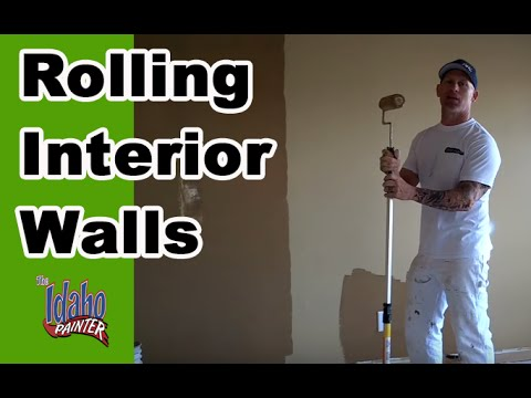 How To Roll Walls Rolling Interior Walls Painting Walls Interior Painting Tips