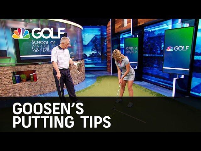 Goosen's Putting Tips - School of Golf   Golf Channel