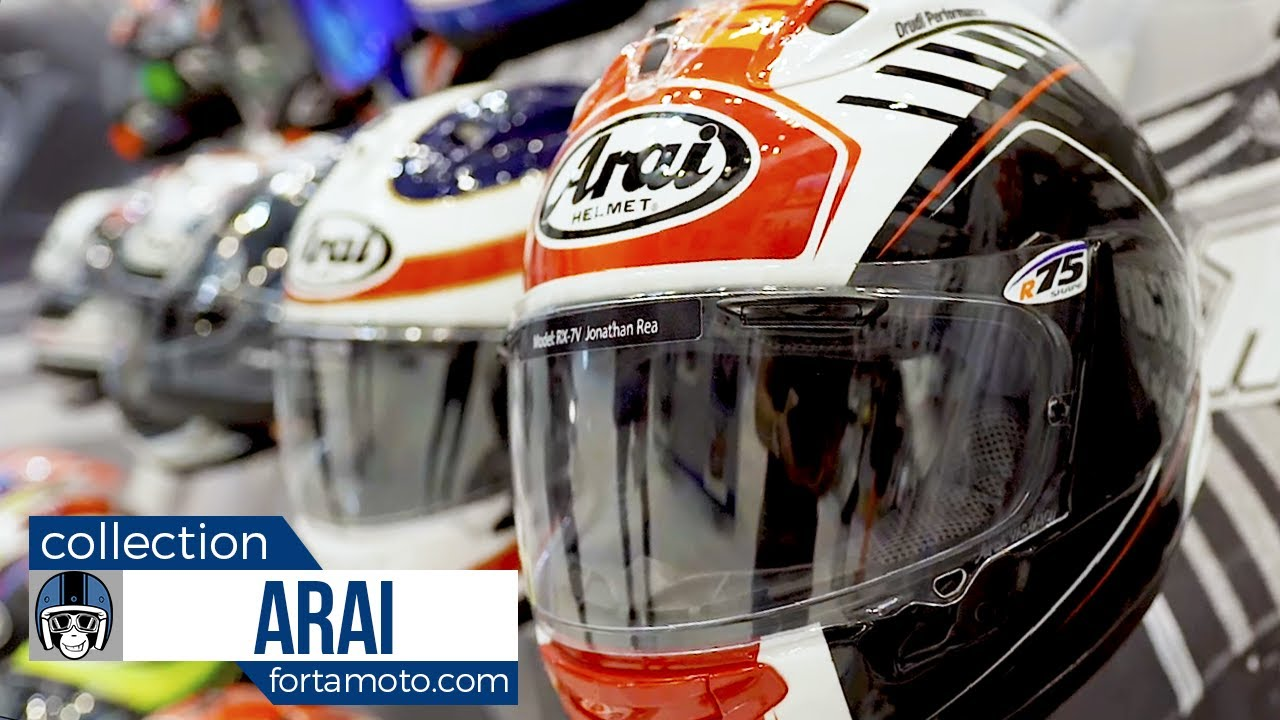 38a12b92f75bb Arai motorcycle helmet collection 2018 | FortaMoto.com - YouTube