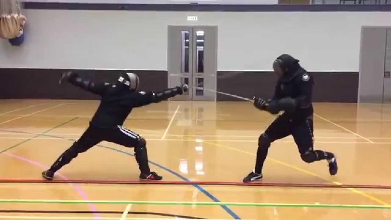 AHF Longsword vs rapier sparring - Nick vs Tom
