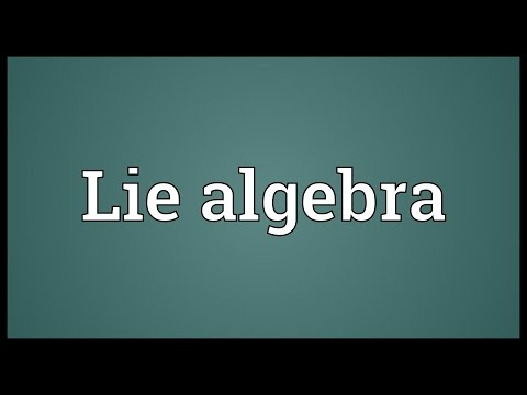 Lie algebra Meaning