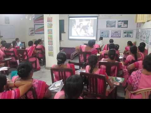 Anganwadi  Training Centre S.M.Patel College of Home Science Worker' Watching Video