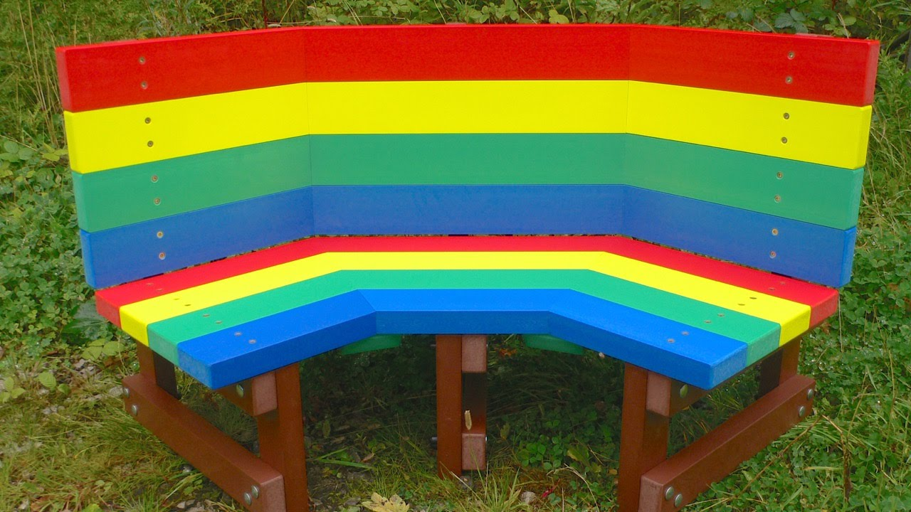 Children S Recycled Plastic Buddy Bench Youtube