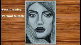 How to draw Realistic Faces #9 | Charcoal Pencil Portrait Sketch Drawing | Face Drawing Series