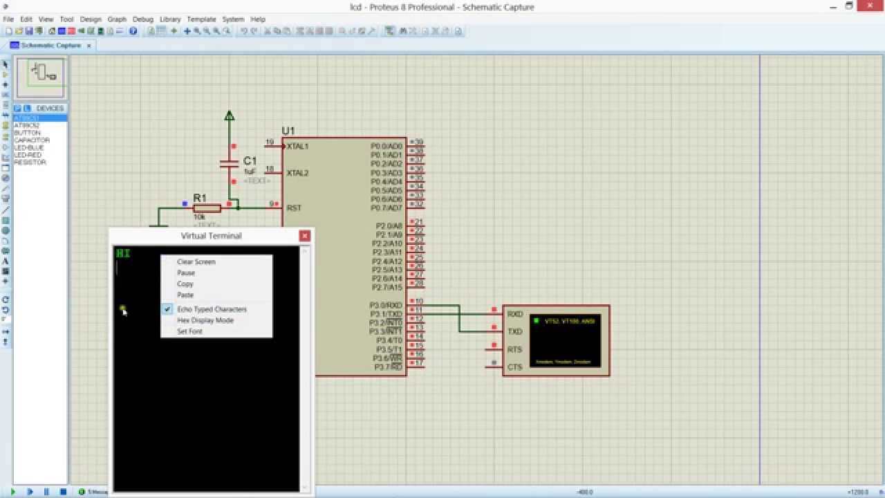 Rfid Interfacing With 8051 At89s51 Simulation In