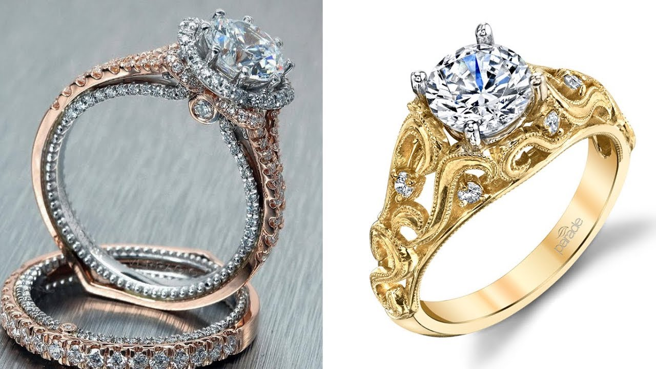 Latest & Best Gold Diamond Ring Designs for Female