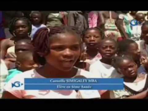 RTG / Le ministre Estelle Ondo fait dons de matériels de constructions a l'école publique de Ngouema
