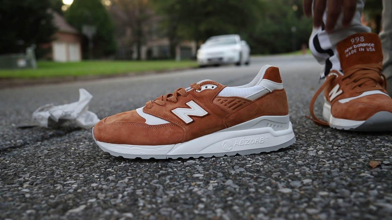 new balance 998 on foot