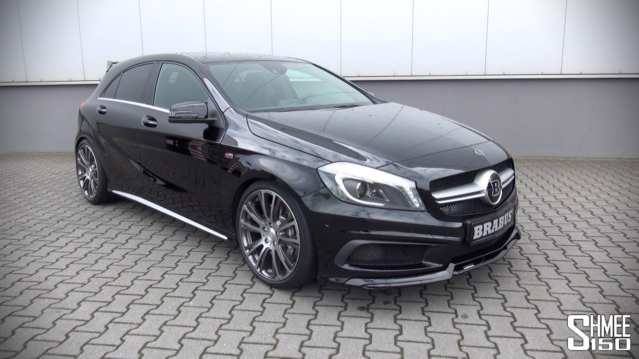 brabus mercedes a45 amg introduction and revs youtube. Black Bedroom Furniture Sets. Home Design Ideas