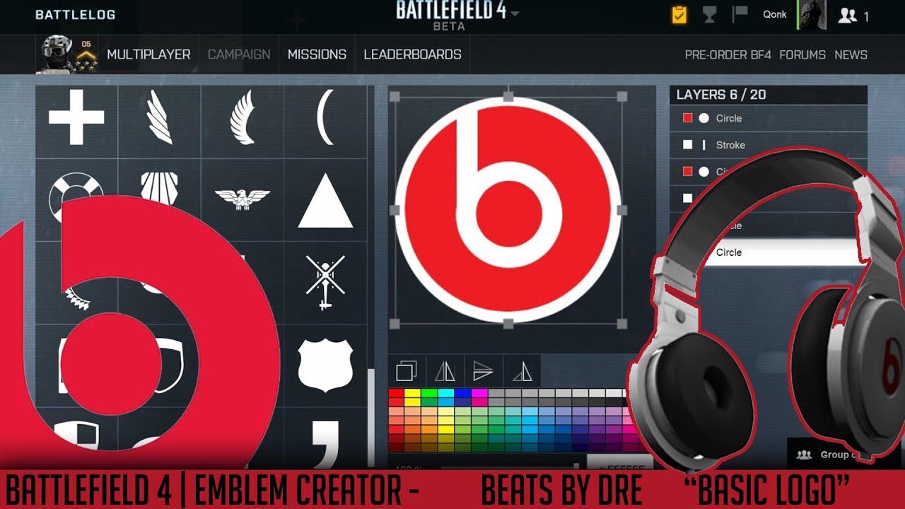 Battlefield Emblems Creator Beats By Dre Basic Logo