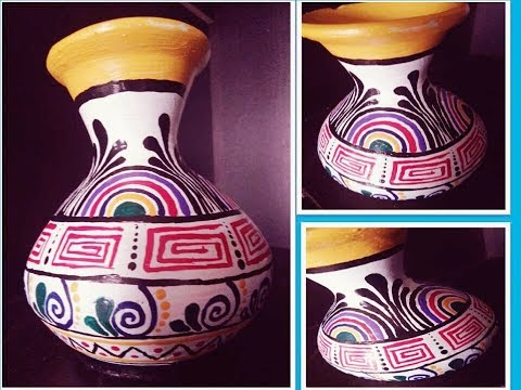 DIY | small clay pot painting ideas | how to paint terracotta pot | home decor ideas