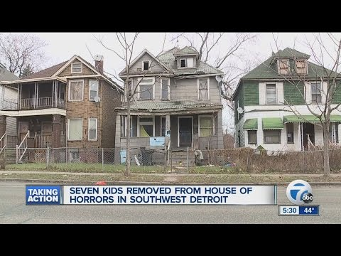 7 children removed from house on Detroit's southwest side
