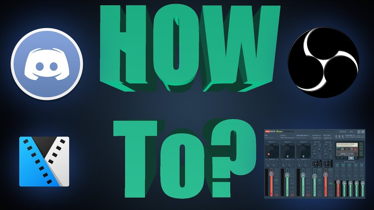 How To Create 3 Audio Channels In OBS - GAME AUDIO, MIC AUDIO, and DISCORD  USING VOICEMEETER BANANA!