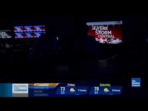 Weather Channel studio lights go out