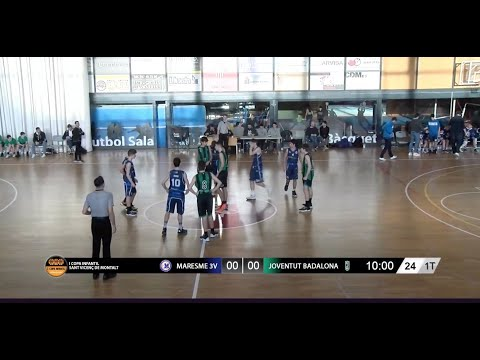 U14M - MARESME 3V Vs JOVENTUT BADALONA. I Copa Infantil Sant Vicenç De Montalt (BasketCantera.TV)