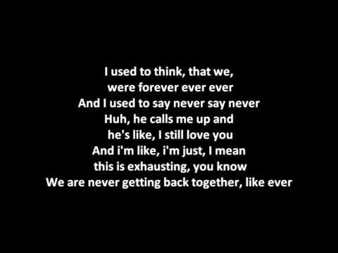 Taylor Swift - We Are Never Ever Getting Back Together KARAOKE