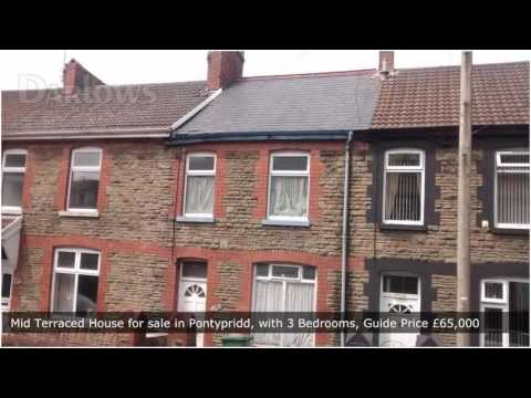 Mid Terraced House for sale in Pontypridd, with 3 Bedrooms