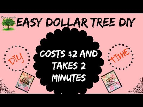 Dollar Tree Very Easy DIY | Takes only 2 min and costs only $2