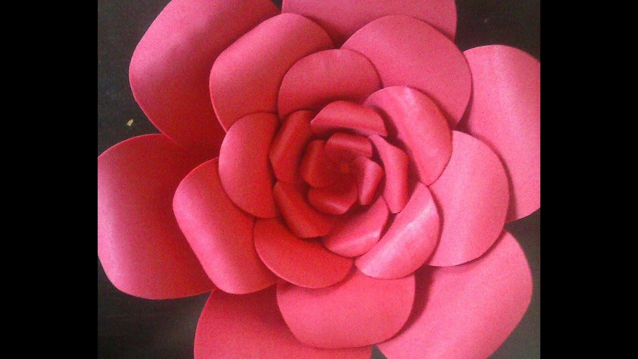 Flor Gigante De Eva Rosa Youtube