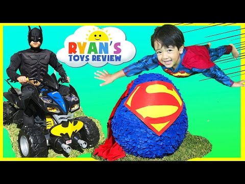 Ryan opens Giant Superman Surprise Egg