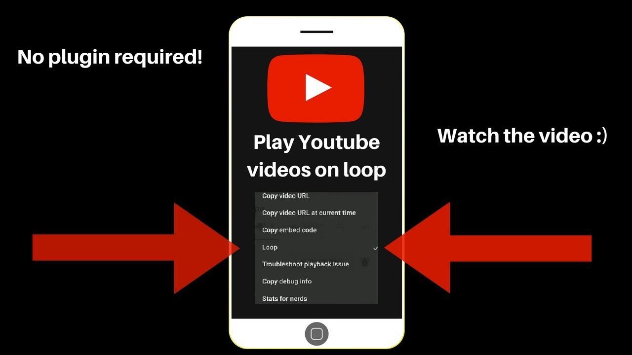 How To Loop Youtube Videos On Mobile Phones Works On All Smarphones Youtube
