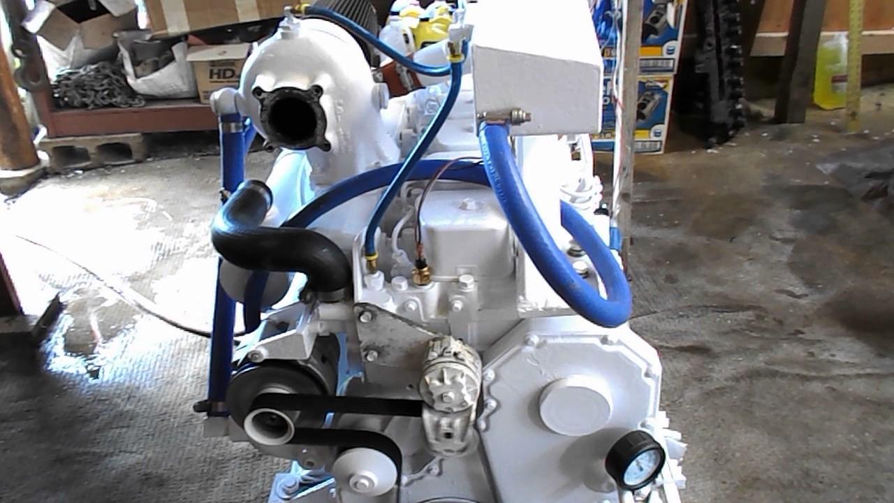 Wide Open Throttle On Cummins Marine 6BT 180HP CPL742