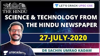 Science and Technology from The Hindu Newspaper | 27-July-2020 | Crack UPSC CSE/IAS