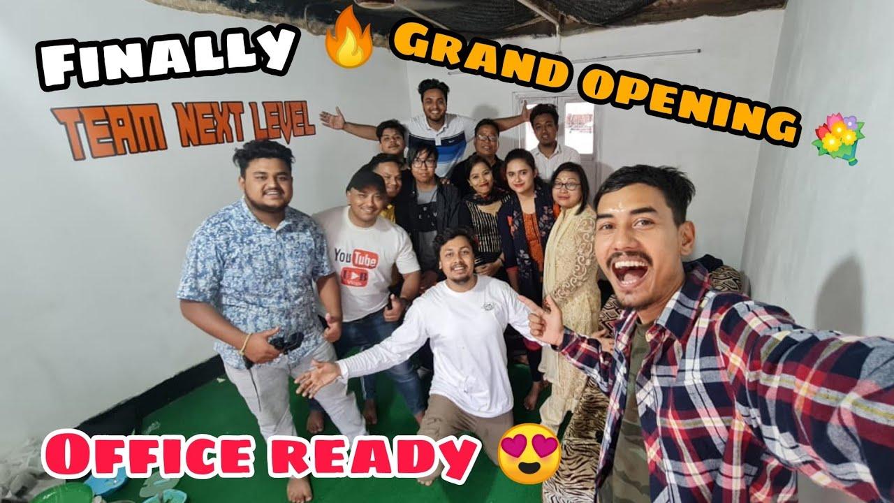 Grand opening 😍 TEAM NEXT LEVEL OFFICE 💐 | Assamese vlog | BJK vlogs