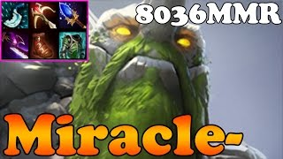 Dota 2 - Miracle- 8036MMR TOP MMR IN THE WORLD Plays Tiny - Ranked Match Gameplay