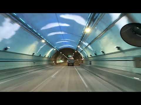 South korea busan's longest underground tunnel