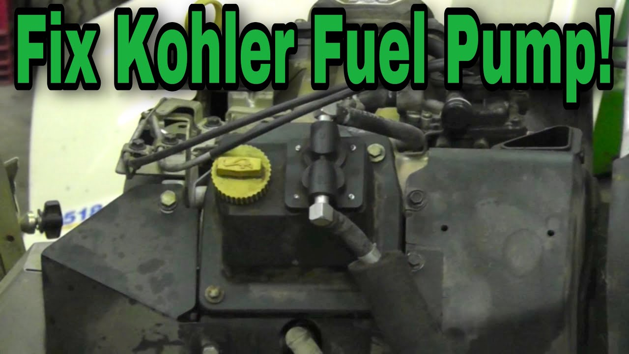 How To Fix Kohler Valve Cover Mounted Mechanical Fuel Pump - With Taryl
