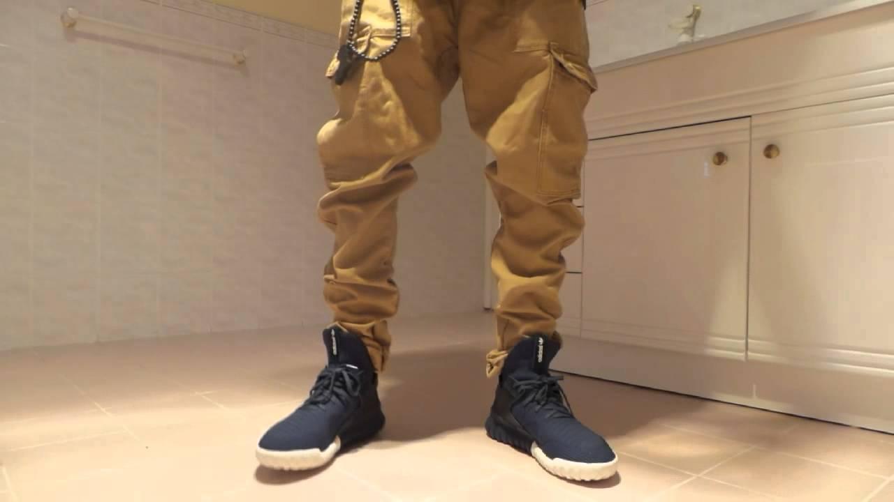 Adidas Tubular X Hemp On Feet