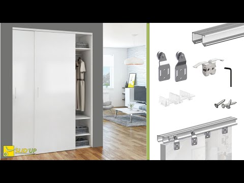 How To Install Sliding Bypass Doors For Wardrobe/closet - SLID'UP 110 - Home Sliding Systems