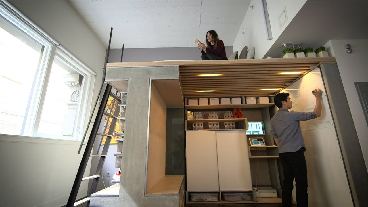 You Won T Believe Everything This Tiny Loft Can Do Youtube