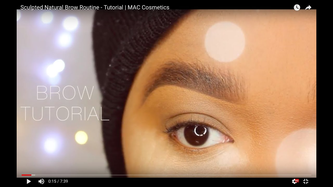 How To Natural Bushy Brow Tutorial Mac Cosmetics Spiked Brow