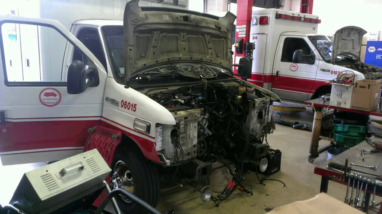 small resolution of engine removal e 450 6 0l