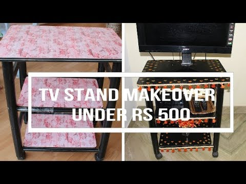 Budget TV stand Makeover under Rs 500 in Tamil with English Subtitles