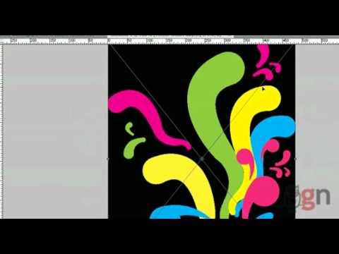 การกราฟฟิกแบบ ฟุ่งๆๆ กระจายใน illustrator