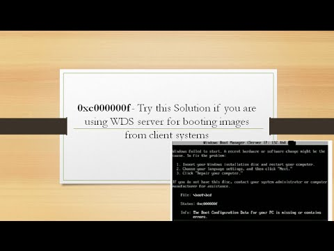 boot bcd error 0xc000000f fix - easy solution