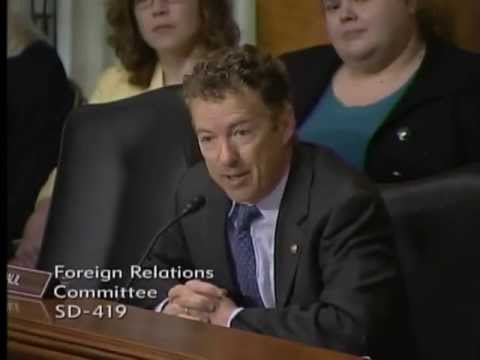 Sen. Paul Questions Sec. Kerry at Senate Foreign Relations Committee hearing- 4/18/2013