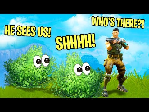 FOLLOWING PEOPLE AROUND AS BUSHES! | Fortnite Battle Royale