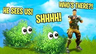 FOLLOWING PEOPLE AROUND AS BUSHES!   Fortnite Battle Royale