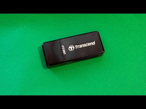 Вскрытие упаковки Картридер Transcend TS-RDP5K