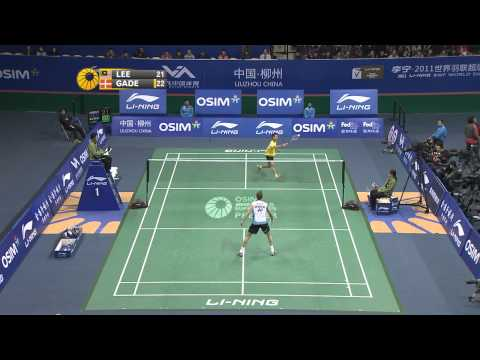 2011 OSIM BWF World Superseries Finals-MS-MS - Group A-Chong Wei Lee vs. Peter Hoeg Gade