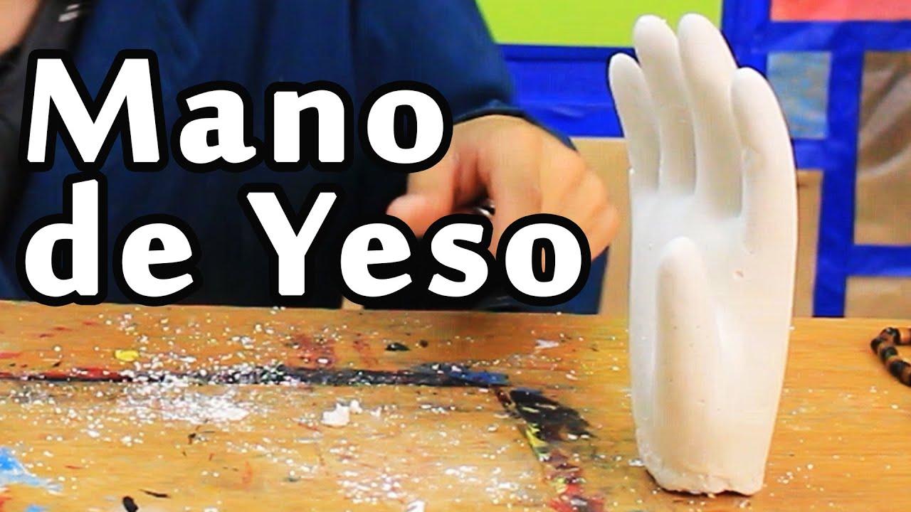 Cómo hacer una Mano de Yeso (Super Fácil) | Arte Track - YouTube