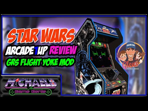 Star Wars Arcade1Up Review & GRS Flight Yoke Mod | MichaelBtheGameGenie from MichaelBtheGameGenie