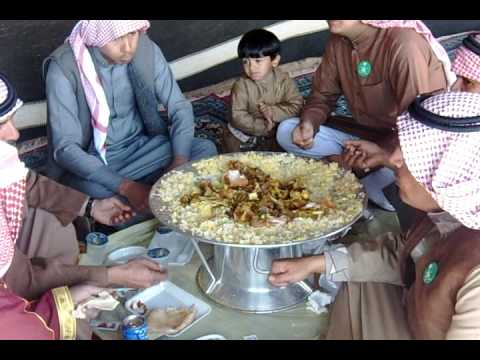 Lunch under the tent in Saudi Arabia. 1-4-09 Egypt & Holy Land