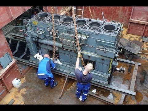 MS Seestern. Ausbau des alten Deutz-Motors