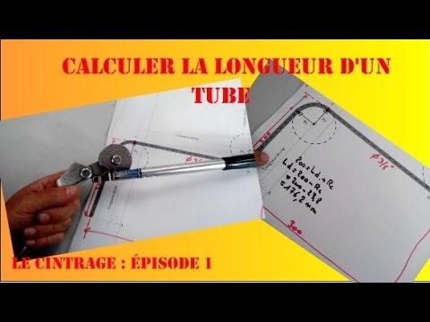 Calculer la longueur de tubes de cuivre avant cintrage - BAC PRO TFCA -