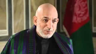 Jon Snow interviews Hamid Karzai
